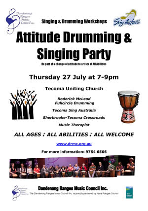 Attitude Drumming and Singing Party 2017 Flyer thumbnail