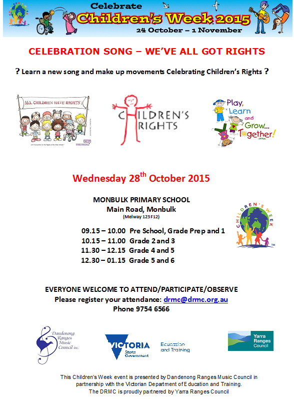 Childrens Week 2015 flyer