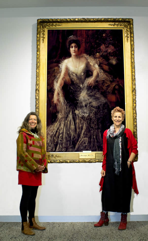 Kate and Karen with portrait Madame Melba March 2017