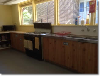 DRMC venue hire kitchen